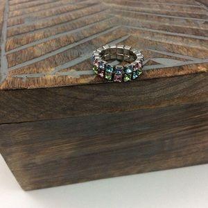 Stretchy Pastel Rhinestone Ring